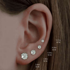 Round Brilliant Cut Diamond Stud Earrings 0.15ct - 4.00ct