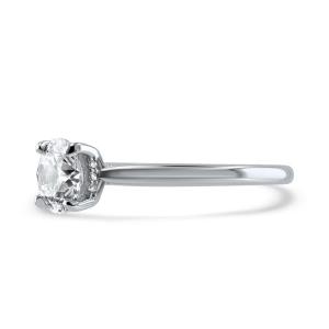 Platinum 1.03ct Round Brilliant Cut Diamond Solitaire Engagement Ring