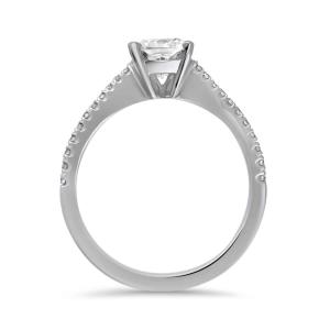 Pre-Owned Platinum 1.02ct Cushion Cut Diamond Engagement Ring