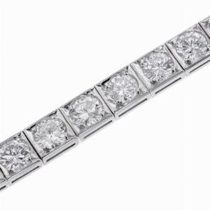 Vintage Platinum Diamond Line Bracelet