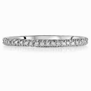 SIENNA Micro Set Brilliant Cut Full Diamond Wedding Rings