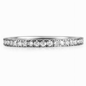 SORENTO Micro Set Brilliant Cut Full Diamond Wedding Rings