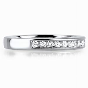 VENEZIA Channel Set Brilliant Cut Half Diamond Wedding Rings