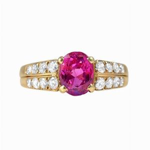 Natural Pink Sapphire & Diamond Ring - 1.89ct