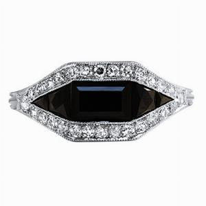 Onyx & Diamond Dress Ring - 0.25ct