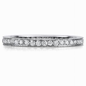 PERUGIA Grain Set Brilliant Cut Full Diamond Wedding Rings