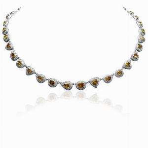 Fancy Cognac Diamond Necklace 16.34ct