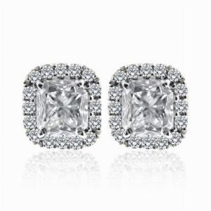 Radiant Cut Diamond Cluster Studs 2.26ct EVS1/EVS2 GIA