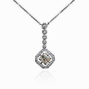 Asscher Cut Diamond Pendant - 1.60ct