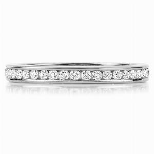 VENEZIA Channel Set Brilliant Cut Full Diamond Wedding Rings