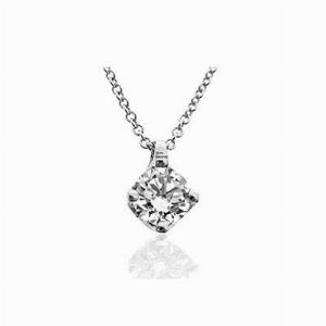 Brilliant Cut Claw Set Diamond Pendant 0.45ct