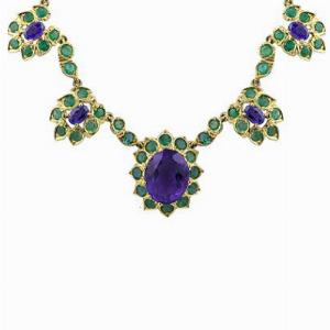 Amethyst & Emerald Necklace