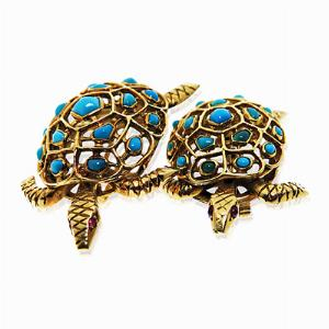 18ct Gold Turtle Brooches - By Boucheron