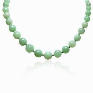 Green Jade Bead Necklace