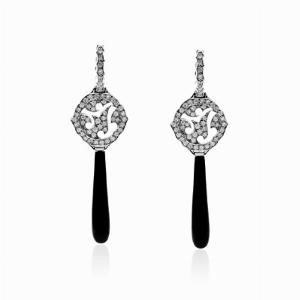 Steven Webster Diamond & Onyx Drop Earrings