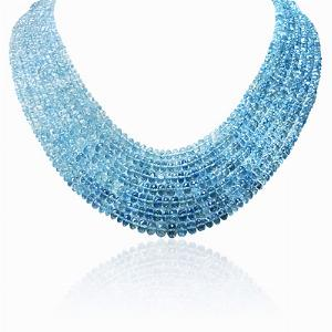 Aqua Necklace Diamond Set Clasp