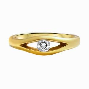 18ct Yellow Gold Brilliant Cut Diamond Dress Ring - 0.15ct