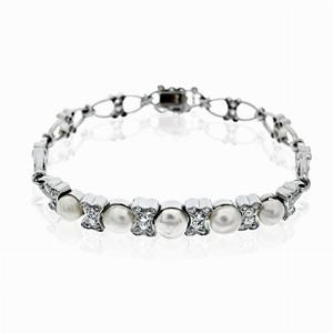 Antique Pearl & Diamond Bracelet