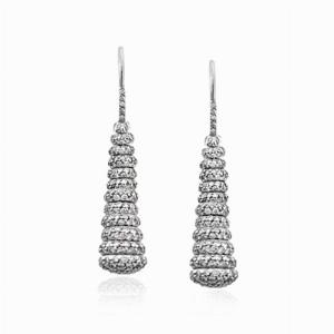 Brilliant Cut Pavé Set Drop Earrings 3.48ct