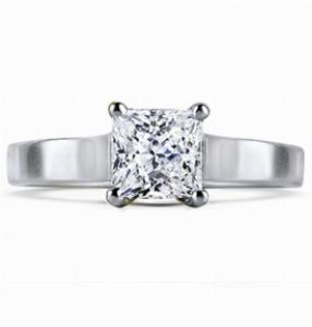 AMANDA Contemporary Princess Cut Solitaire