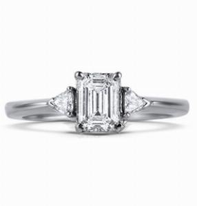 CHARLOTTE Multi Option Claw Set Engagement Ring with Trilliant Shoulders
