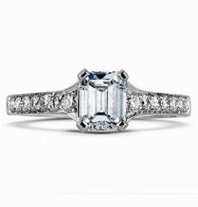 CORDELIA Multi Option Grain Set Shoulder Engagement Ring