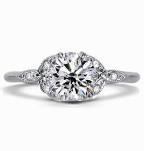 GRACE Ornate Platinum Diamond Dress Ring
