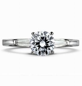 ELIZABETH Multi Option Engagement Ring With Tapered Baguette Shoulders