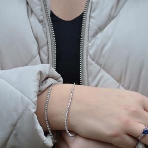 18ct White Gold 1.00ct Diamond Line Bracelet