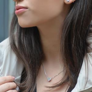 Platinum 1.51ct Heart Shaped Diamond Necklet