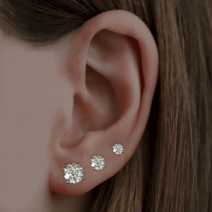 1.00ct Round Brilliant Cut Diamond White Gold Stud Earrings