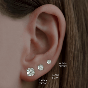 3.00ct Round Brilliant Cut Diamond White Gold Stud Earrings3.00ct Round Brilliant Cut Diamond White Gold Stud Earrings