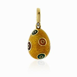 Enamel & Yellow Gold Egg