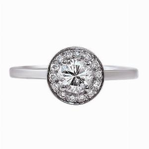 Brilliant Cut Diamond Cluster Ring - 0.75ct