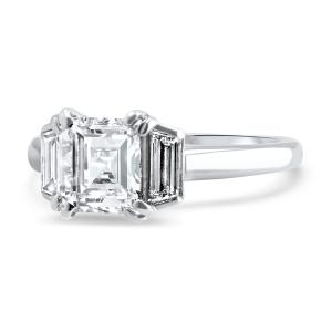 Asscher Cut Engagement Ring Side View