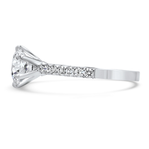 1.30ct Diamond Solitaire With Micro-Set Shoulders