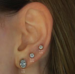 1.40ct Oval Diamonds On Ear