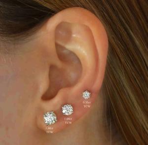 Diamond Earring Size Comparison