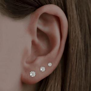 0.15ct Round Brilliant Cut Diamond White Gold Stud Earrings