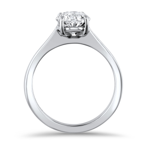 Platinum 1.50ct Oval Diamond Solitaire Ring