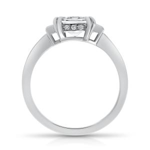 Platinum 1.64ct Asscher Cut Diamond Ring