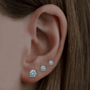 18ct Yellow Gold 0.51ct Diamond Stud Earrings