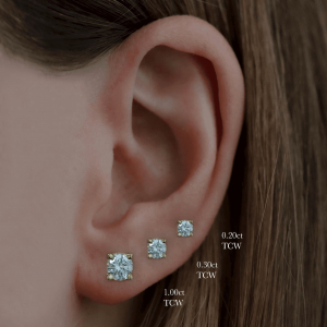 18ct Yellow Gold 0.21ct Diamond Stud Earrings