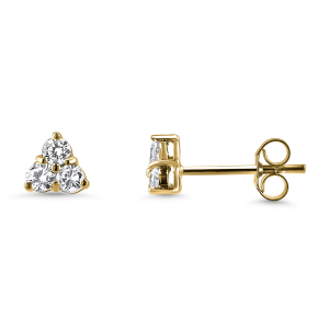 18ct Yellow Gold 0.50ct Diamond Trefoil Earrings