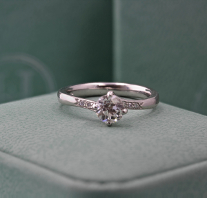 Old Cut Diamond Solitaire Ring - 0.80ct
