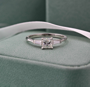 Princess Cut & Tapered Baguette 0.47ct EVS1 GIA