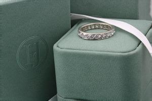 PERUGIA Grain Set Brilliant Cut Full Diamond Wedding Rings