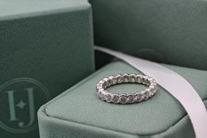 VERONA Rub-Over Set Brilliant Cut Full Diamond Wedding Rings