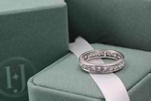 VENEZIA Channel Set Brilliant Cut Full Diamond Wedding Rings