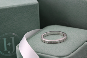 CAPRI Channel Set Carre Cut Diamond Commitment Rings